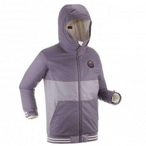 Куртка для сноуборда и лыж для девочек фиолетовая SNB 100 DREAMSCAPE