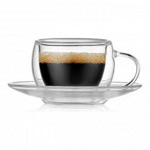 Набор из 2-х кофейных пар FLORAL, 80мл