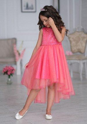 Леди нарядное платье коралловый