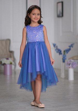 Леди нарядное платье фиолетовый