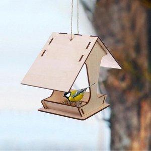 Kopмушка для птиц, 10,5 ? 10,5 ? 15 см
