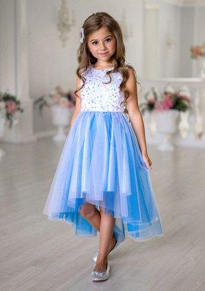 Леди нарядное платье голубой