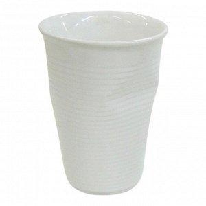 Мятый стаканчик керамический белый 0,24л, белый