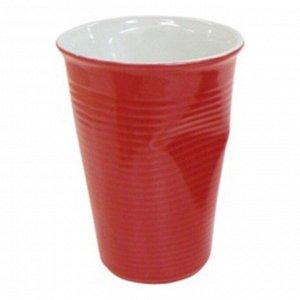 Мятый стаканчик керамический красный 0,24л, красный