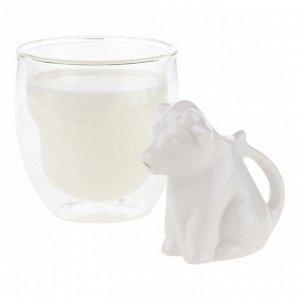 Молочник Cow, 8 см, фарфор