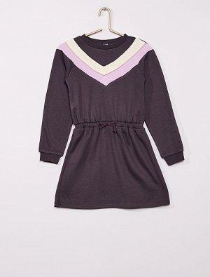 Платье-свитшот в стиле колор-блок