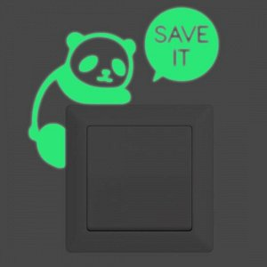 Светящаяся наклейка для выключателей