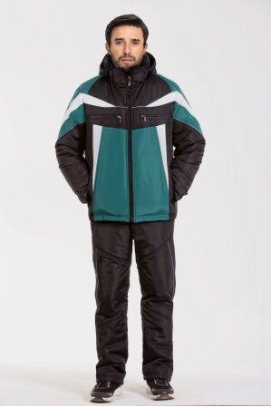 Зимний мужской костюм М-301 (черный-корвет-белый)