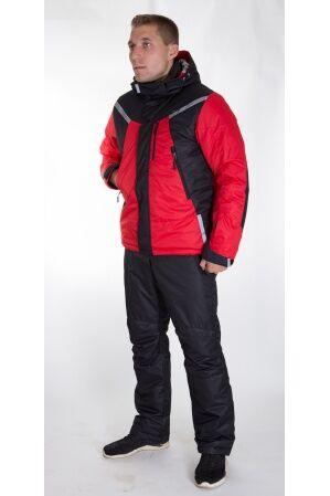 Зимний мужской костюм М-245 (красный/черный)
