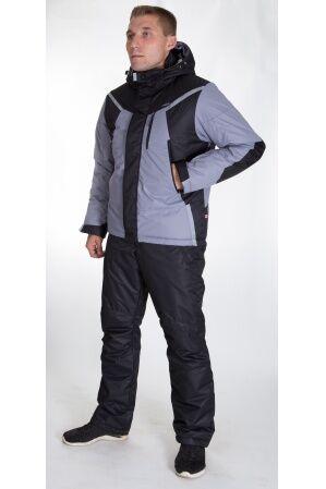 Зимний мужской костюм М-245 (серый/черный)