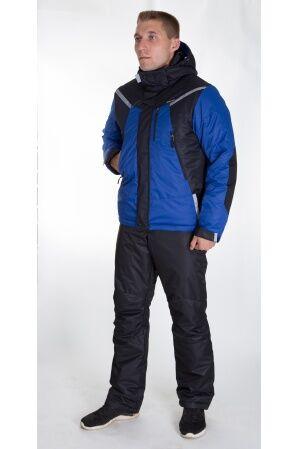 Зимний мужской костюм М-245 (василек/черный)