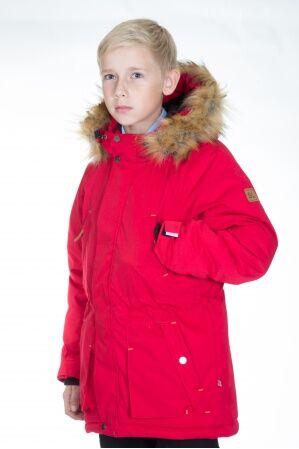 Куртка-парка зимняя КМ-004 (красный)