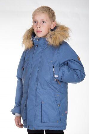 Куртка-парка зимняя КМ-004 (светлый джинс)