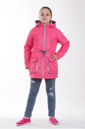 Детская куртка-парка для девочки весна/осень КМ-005 (розовый)