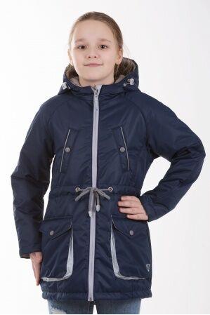Детская куртка-парка для девочки весна/осень КМ-005 (синий)