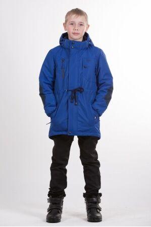 Детская куртка-парка для мальчика весна/осень КМ-002 (василек)