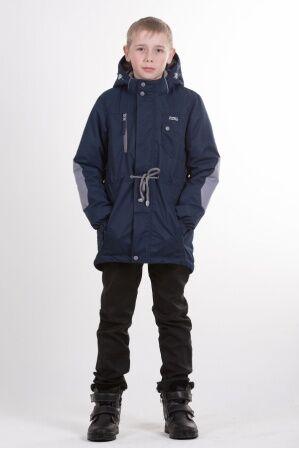 Детская куртка-парка для мальчика весна/осень КМ-002 (синий)