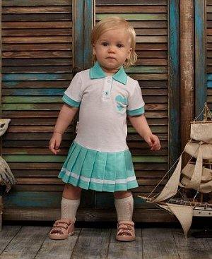 Платье мятное Поло