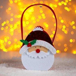 Сумочка «Дедушка Мороз», с пайетками