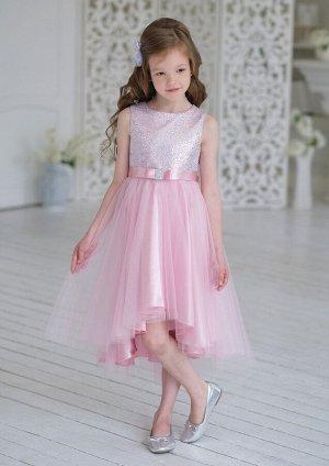 Эльза нарядное платье розовый