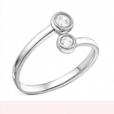 СЕРЕБРО РОССИИ! Огромный ассортимент💍 Лучший подарок 🎁 — Кольца с фианитами бесцветные — Ювелирные кольца