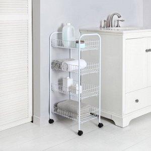 Мобильная этажерка 4 Tier Rolling Storage Cart / 4 яруса