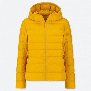 Ультралегкиая пуховая куртка, желтый