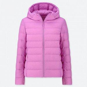 Ультралегкая пуховая куртка, розовый