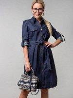 Платье-рубашка из джинсы (П-60-14)