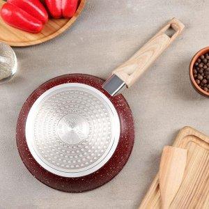 Сковорода кованая Natural. Brown, d=20 см, ручка soft-touch, индукционное дно