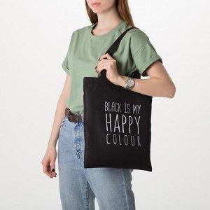 Сумка шоппер, отдел без молнии, без подклада, цвет чёрный