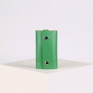 Ключница, 7 карабинов, цвет зелёный