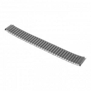 Ремешок для часов 18 мм, металл, протектор полоски, с узором, 18 см