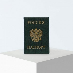 Обложка для паспорта, цвет зелёный 5195447