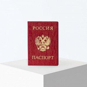 Обложка для паспорта, цвет красный 5195491