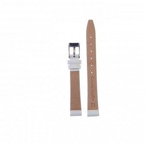 Ремешок для часов, женский, 12 мм, натуральная кожа, белый