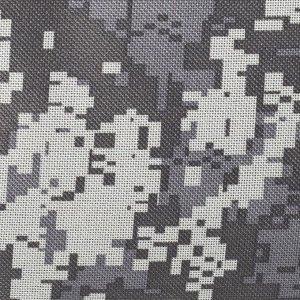 Сумка дорожная, отдел на молнии, 3 наружных кармана, длинный ремень, цвет камуфляж/серый