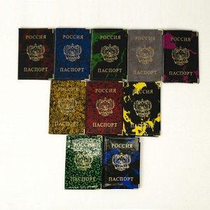 Обложка для паспорта, цвет МИКС