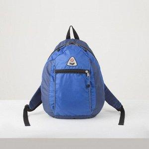 Рюкзак туристический, 21 л, отдел на молнии, наружный карман, цвет синий
