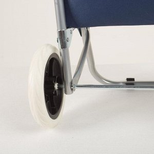 Сумка хозяйственная на тележке, отдел на шнуре, нагрузка 30 кг, колёса ПВХ, цвет голубой