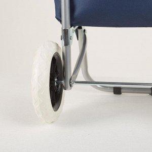 Сумка хозяйственная на тележке, отдел на шнуре, нагрузка 30 кг, колёса ПВХ, цвет синий