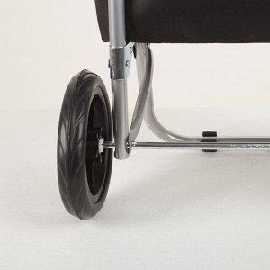 Сумка хозяйственная на тележке, отдел на шнуре, нагрузка 30 кг, колёса ПВХ, цвет коричневый