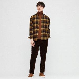 Фланелевая рубашка в клетку, коричневый