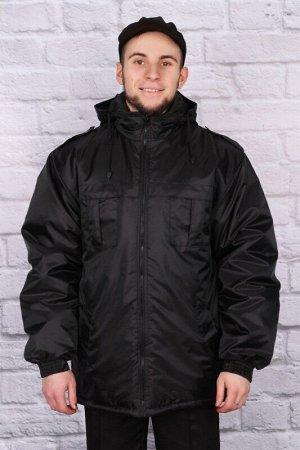 Куртка Утепленная, с подкладкой флис Куртка удлиненная с застежкой на молнию, притачным капюшоном.. На изделии под кокеткой два нагрудных кармана со складкой и два прорезных,  с листочкой. Объем модел