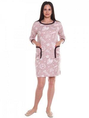 Туника хлопок 100% Описание: Туника-платье прямого кроя с рукавом 3/4, с накладными карманами и разрезами по бокам. Рост модели 175см