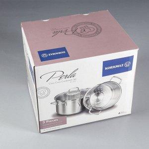 Пароварка Perla 6,9 л, 24х15 см, со вставкой 5,2 л, 24х11,7 см, со стеклянной крышкой