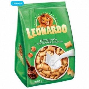 Зерновые подушечки «Leonardo» из пяти злаков с шоколадной начинкой, 200 г