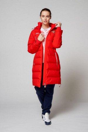 Куртка пуховая женская (красный)