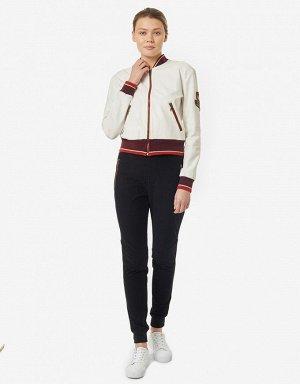 Куртка тренировочная женская (белый/красный)