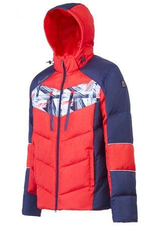 Куртка пуховая мужская (красный/синий)